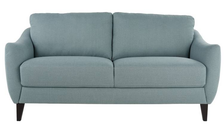 Argos Home Flynn 3 Seater Fabric Sofa - Duck Egg