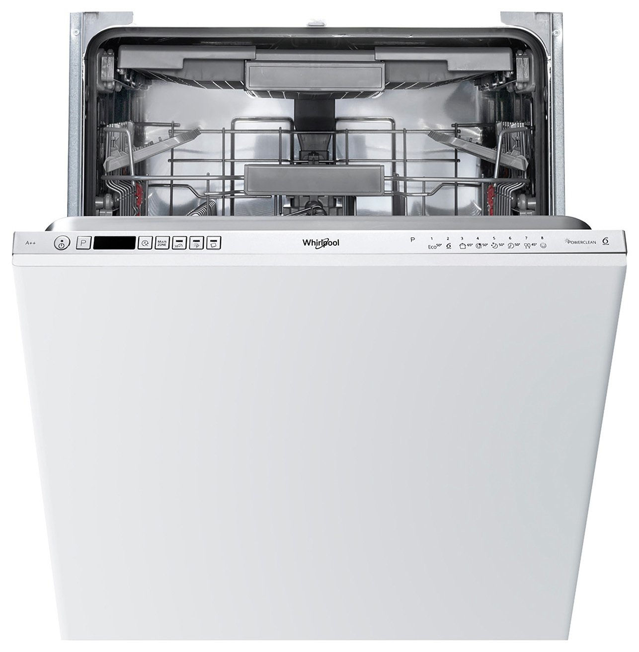Whirlpool WIC3C23PEF Full Size Integrated Dishwasher - White