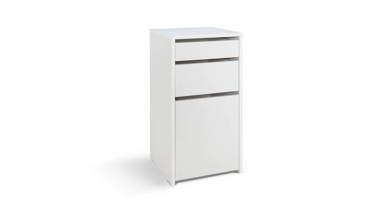 Argos Home Pepper 2 Drawer Filing Cabinet - White