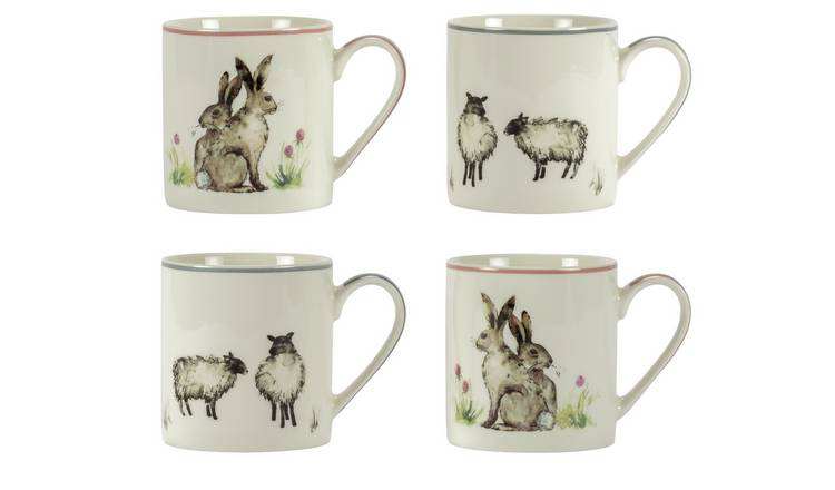 Buy Argos Home Moorlands Set of 4 Animal Mugs   Cups and mugs   Argos
