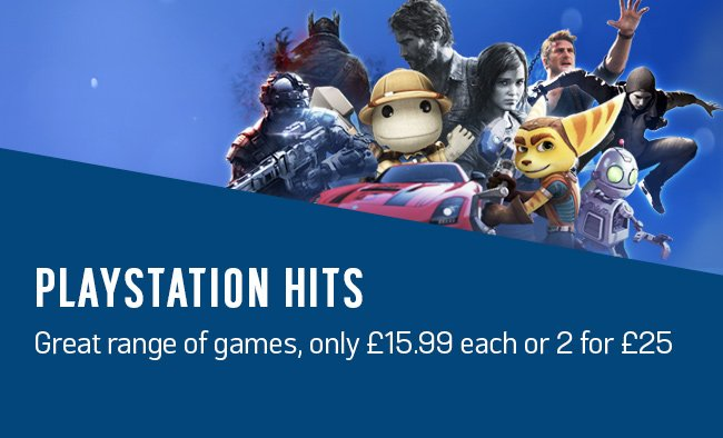 Playstation hits. Great range of games only £15.99 each or 2 for £25.