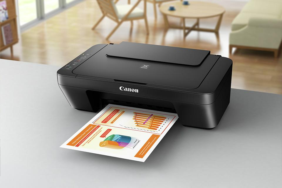 Printer on worktop counter.