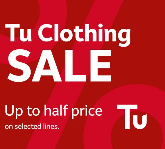 Save up to half price on Tu clothing.