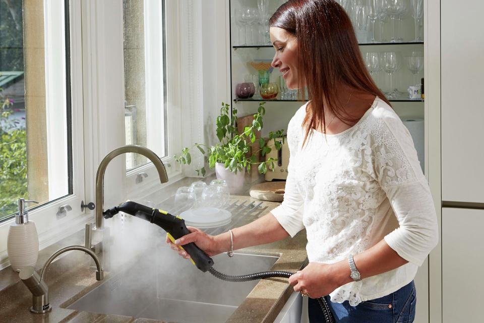 Handheld steam cleaners.