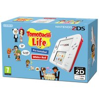 Nintendo - 2DS White/Red and Tomodachi Life Game