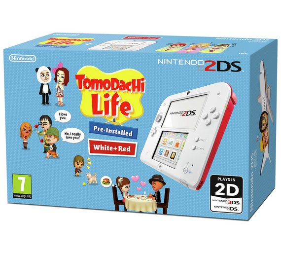 buy nintendo 2ds white red and tomodachi life game nintendo 2ds