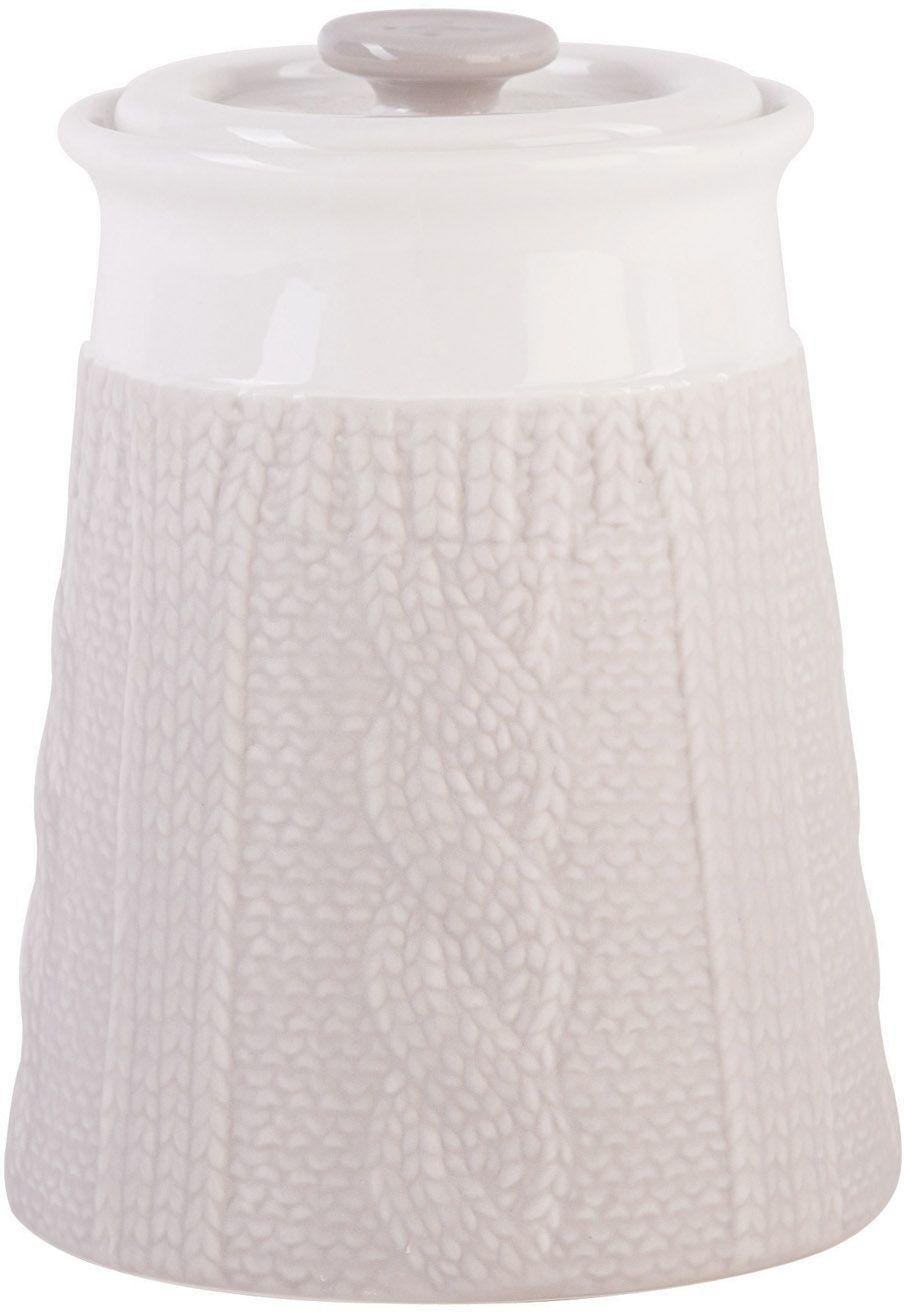 Image of Chunky Knit Design - Storage Jar - Pebble