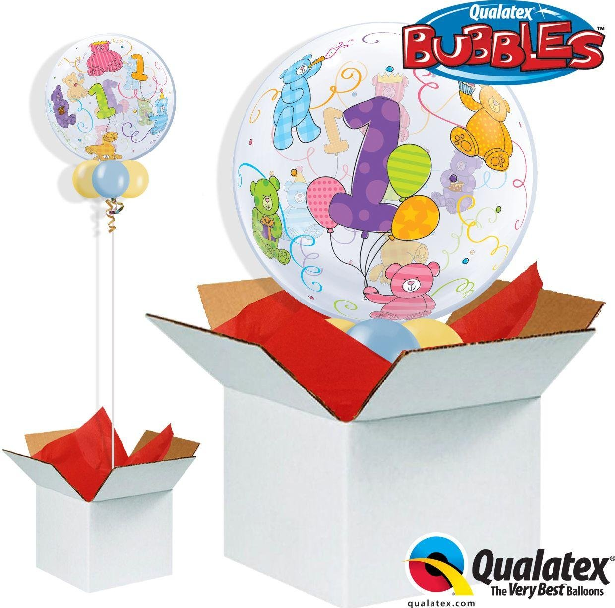 Argos - Age 1 Teddy Bears - Bubble - Balloon in a...