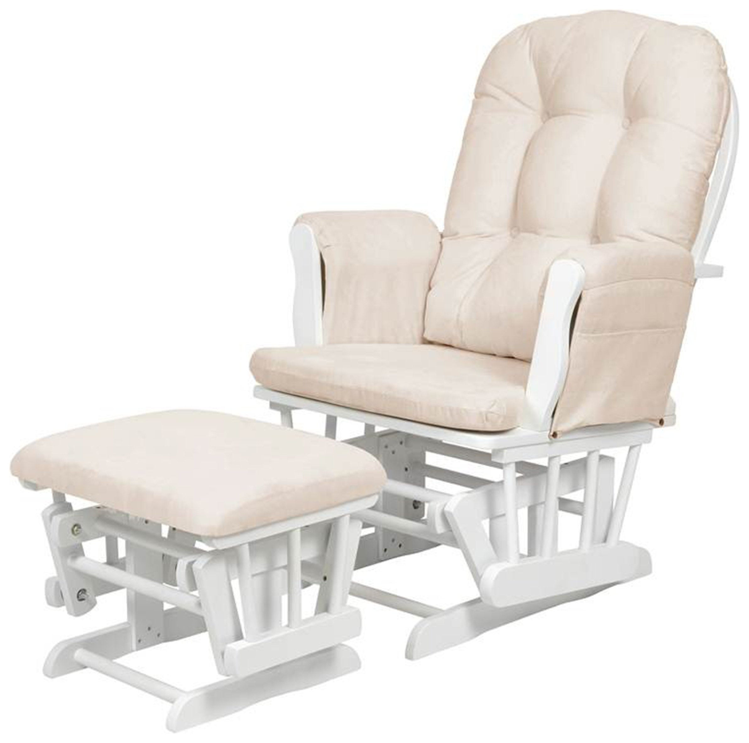 kub haywood glider and footstool  beige and white