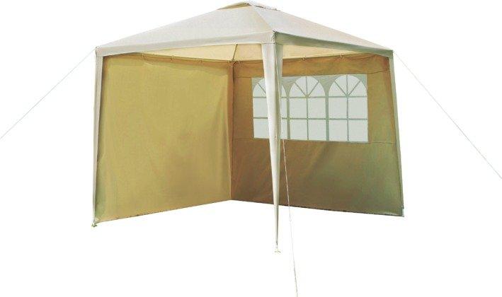 Argos Home 2.7m x 2.7m Garden Gazebo with Side Panels -Cream