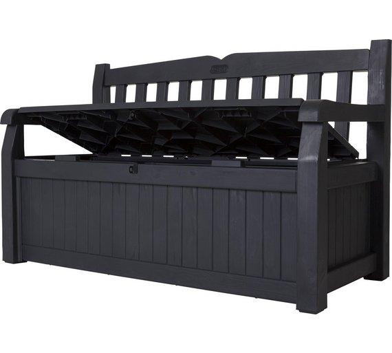 Peachy Hudson Keter Iceni Eden Plastic Garden Storage Bench Box Machost Co Dining Chair Design Ideas Machostcouk