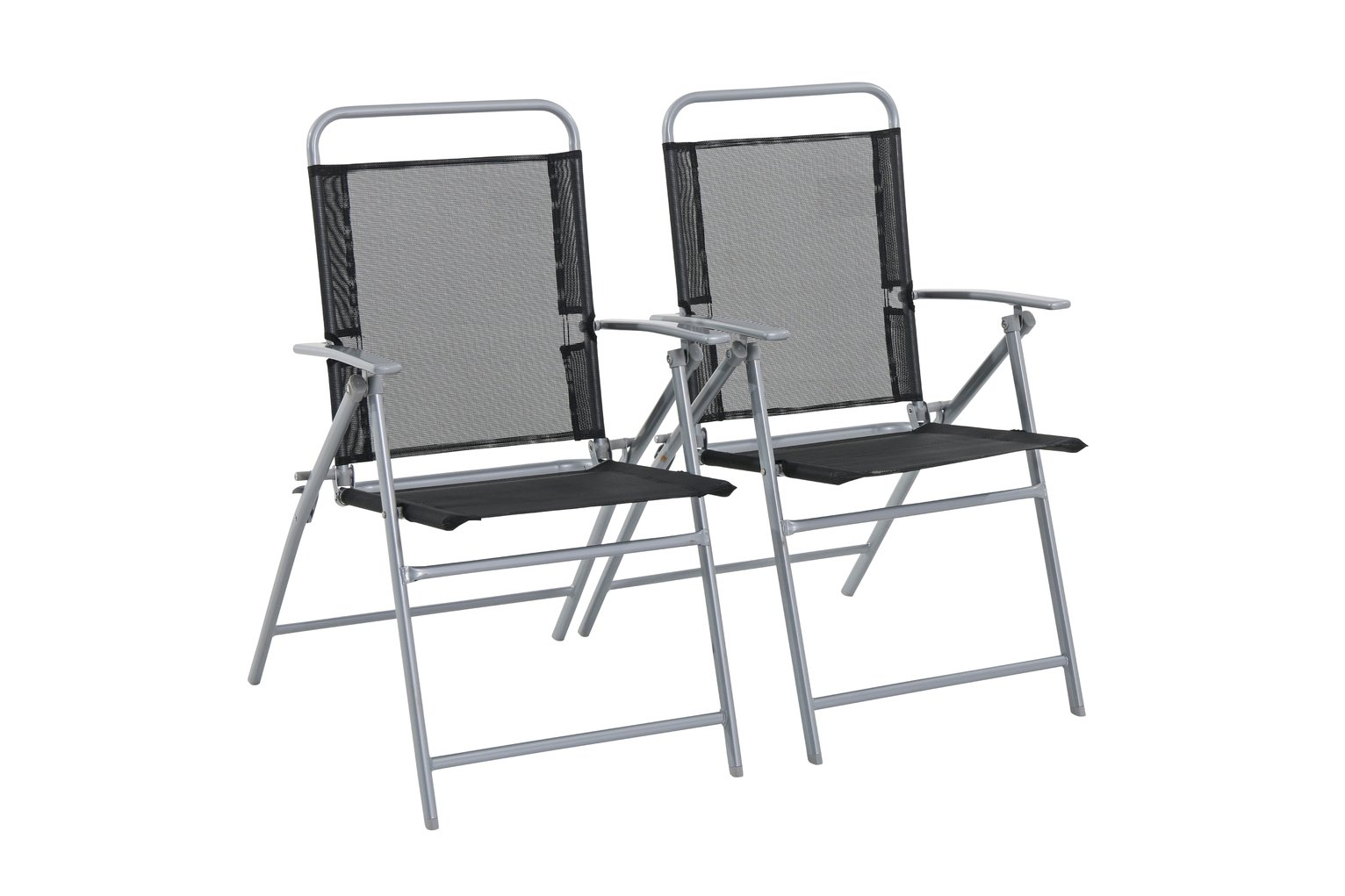 Argos Home Atlantic Steel Set of 2 Folding Chairs