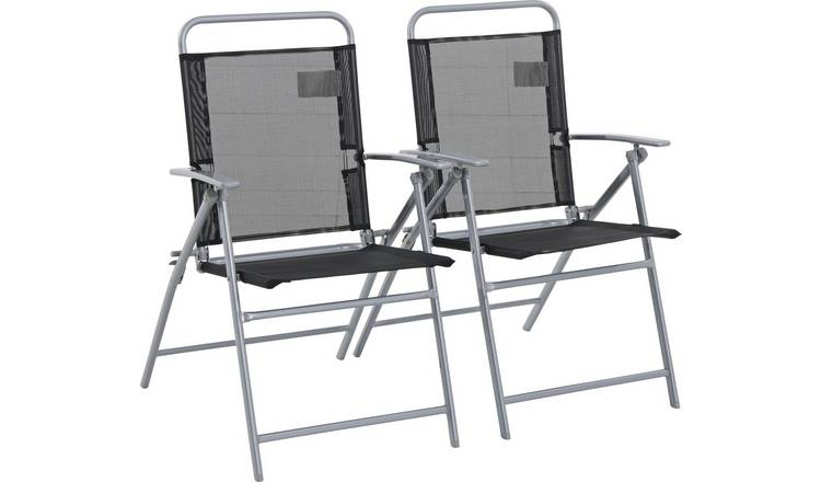 Admirable Buy Argos Home Atlantic Steel Set Of 2 Folding Chairs Garden Chairs And Sun Loungers Argos Ncnpc Chair Design For Home Ncnpcorg