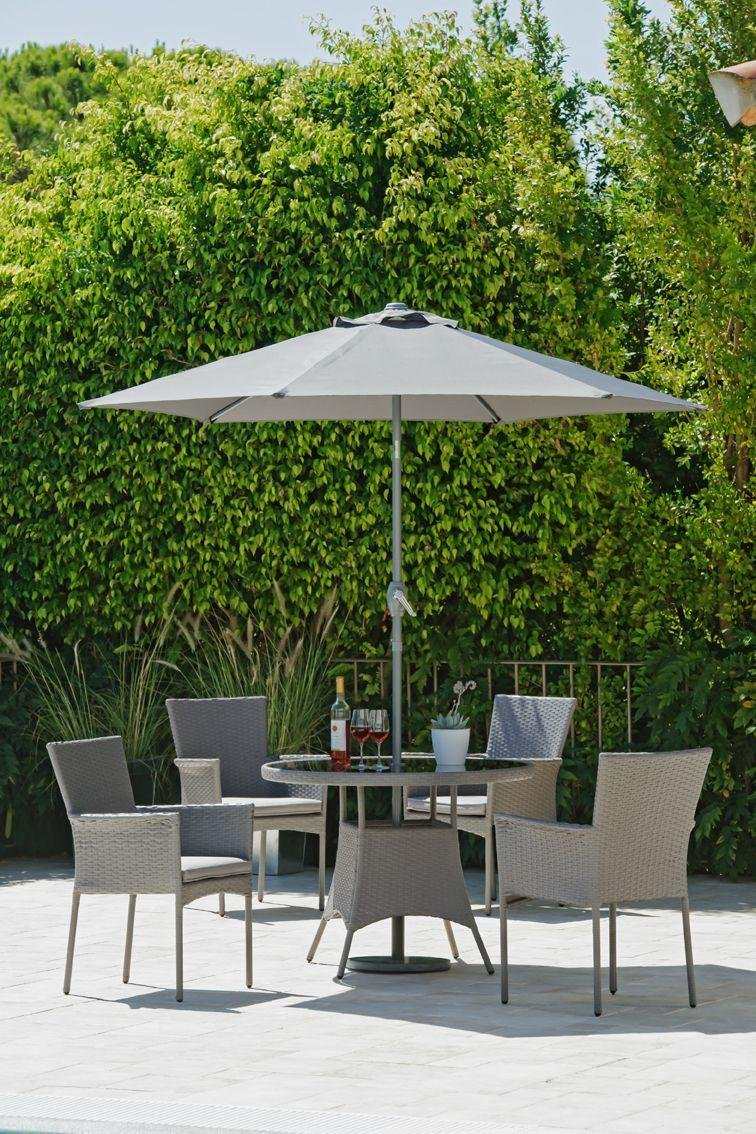 Argos Home Havana 4 Seater Rattan Effect Patio Set - Grey
