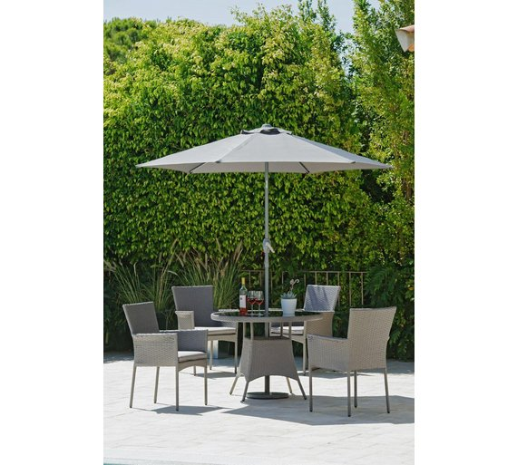 collection havana rattan effect 4 seater set - Garden Furniture 4 Seater Sets