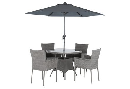Image of the Collection Havana Rattan Effect 4 Seater Set.