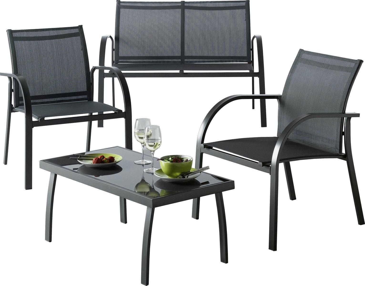 Argos Home Milan 4 Seater Metal Sofa Set