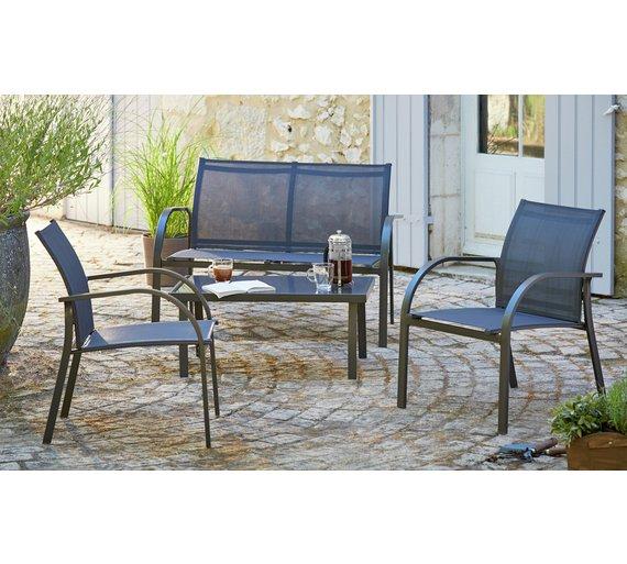 Buy Home Milan 4 Seater Metal Sofa Set At Argos Co Uk