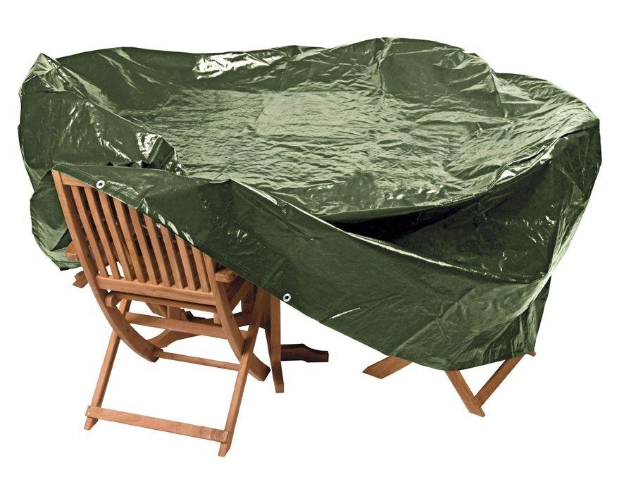 HOME Heavy Duty Oval Patio Set Cover