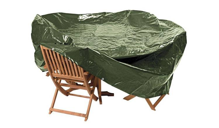 Wondrous Buy Argos Home Heavy Duty Oval Patio Set Cover Garden Furniture Covers And Cushions Argos Home Interior And Landscaping Signezvosmurscom