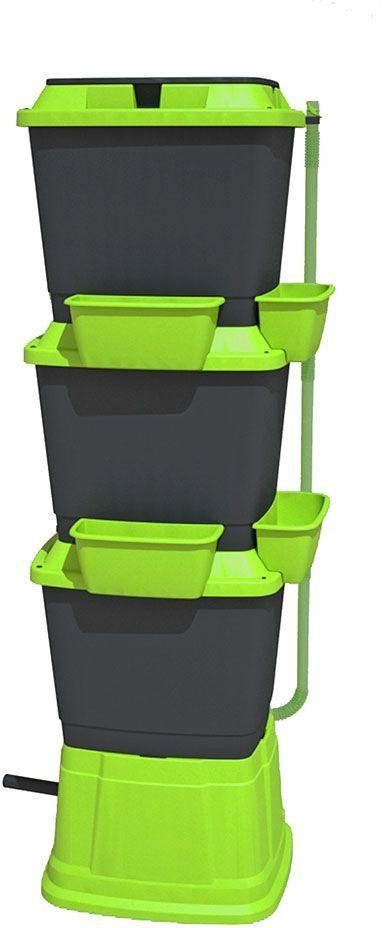 Rainwater Terrace 3 Tier 200 Litre Water Butt - Black/Green. lowest price