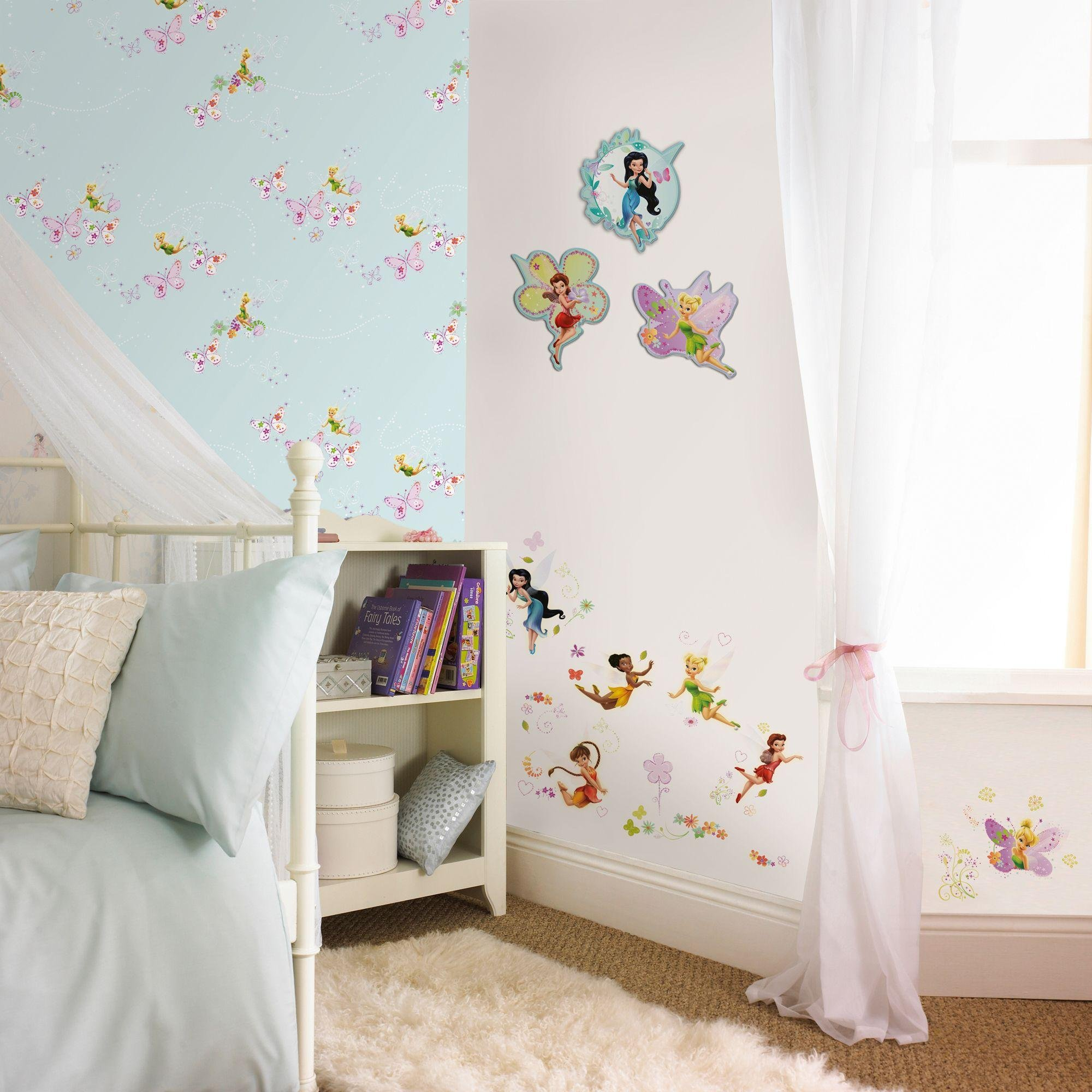 disney fairies wallpaper sample  multicoloured.