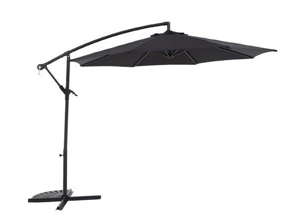 Argos Home Black Non-Rotating 2.5m Overhanging Parasol