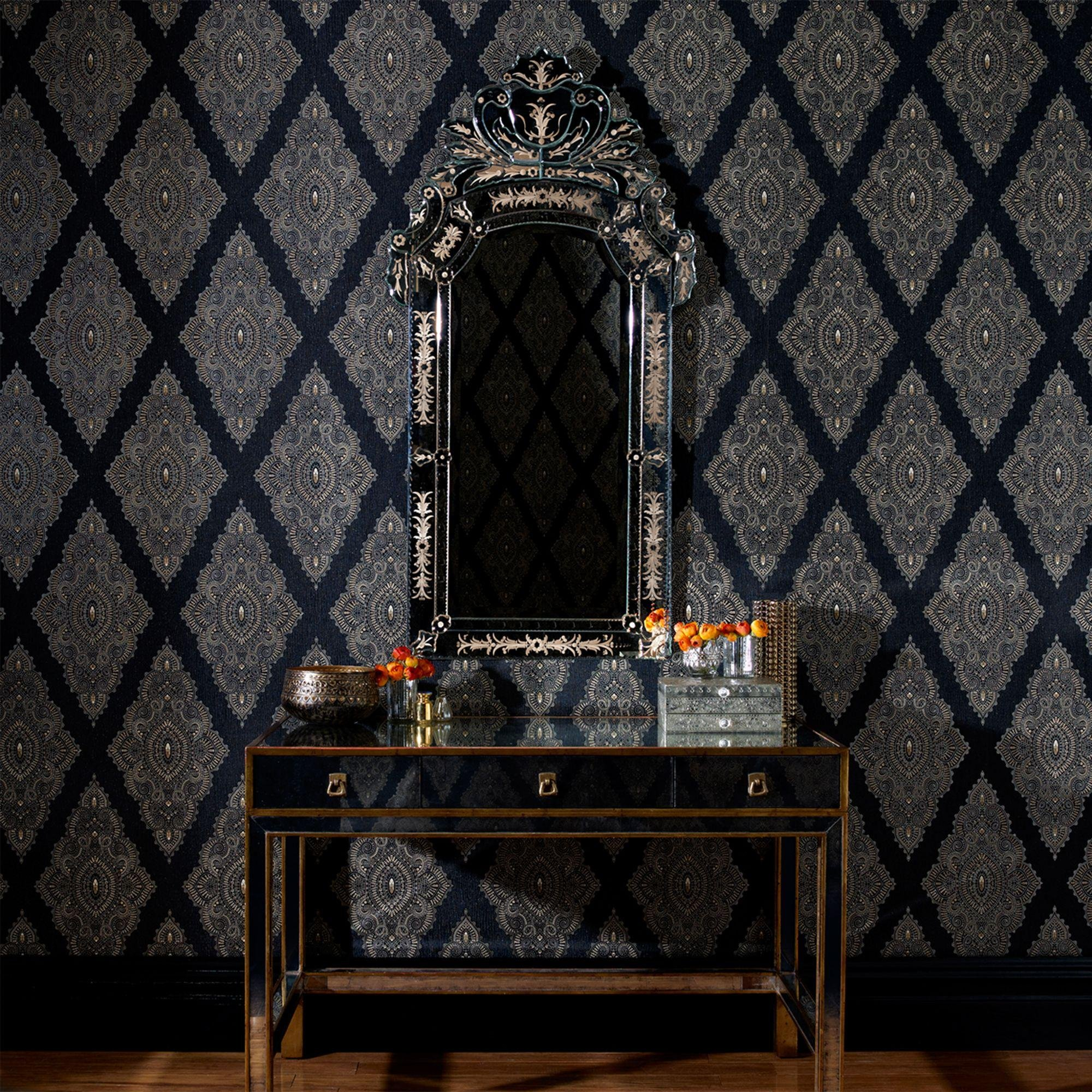 Graham & Brown Wallpaper - Jewel Black.