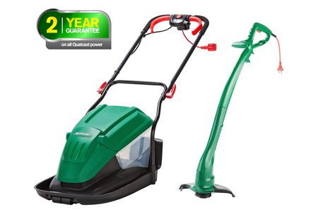 Image of the Qualcast Corded Hover Mower 1600W And Trimmer 320W.