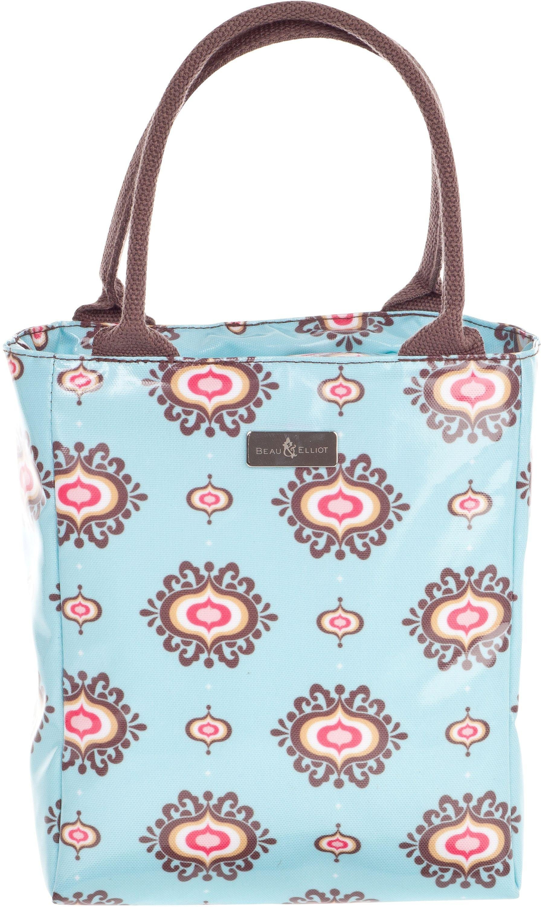 Image of Beau and Elliot - Filigree Insulated Lunch Tote - Blue