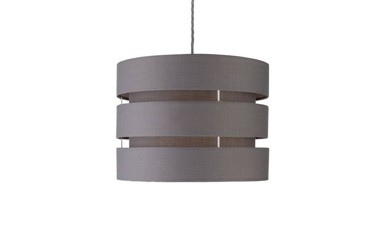 Argos Home 3 Tier 30cm Lamp Shade - Flint Grey