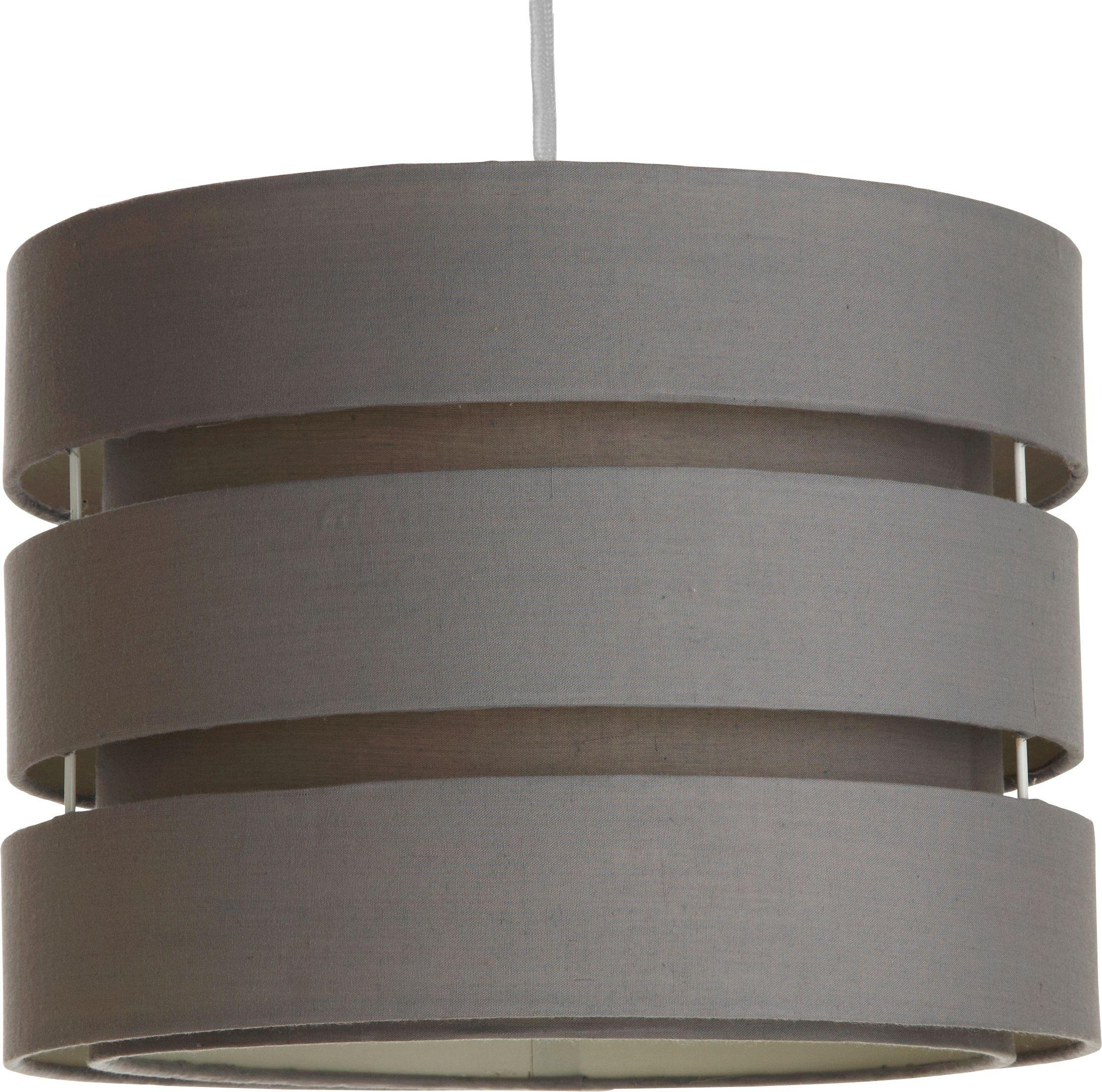 Argos Home 2 Tier Light Shade - Flint Grey