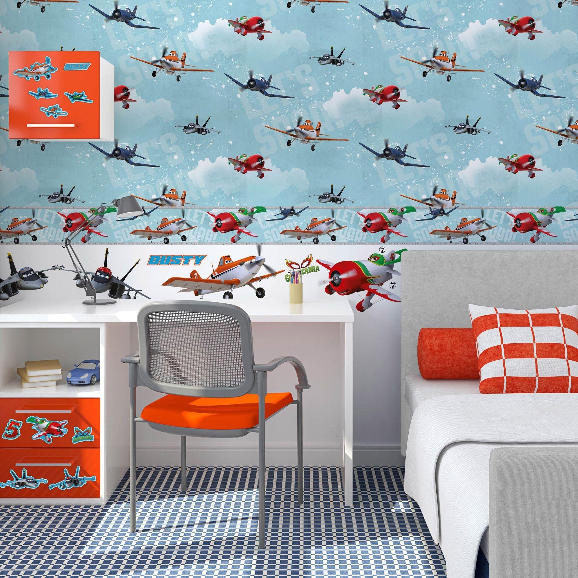 disney planes wallpaper  multicoloured.
