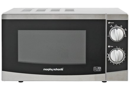 Morphy Richards 800W Standard Microwave MM82  - Silver