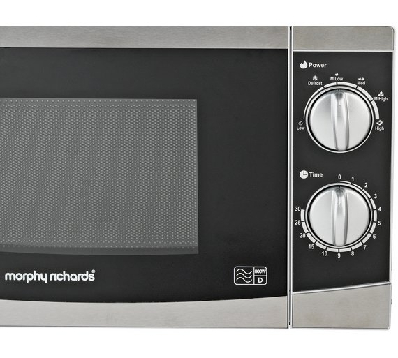 Morphy Richards Microwave: NEW Morphy Richards 800W Standard Microwave MM82 Meals Cooked In Minutes Silver 7426823478124