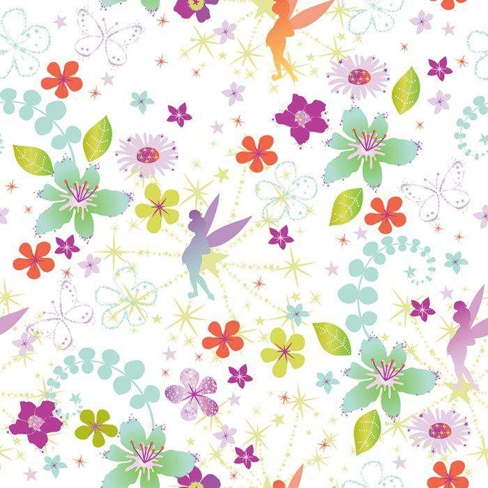 disney tinkerbell wallpaper  multicoloured.