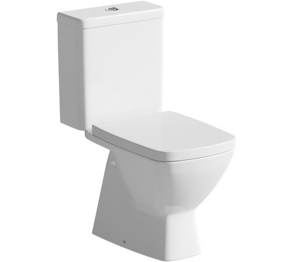 Buy Eliana Ebony Close Coupled Toilet And Soft Close Seat
