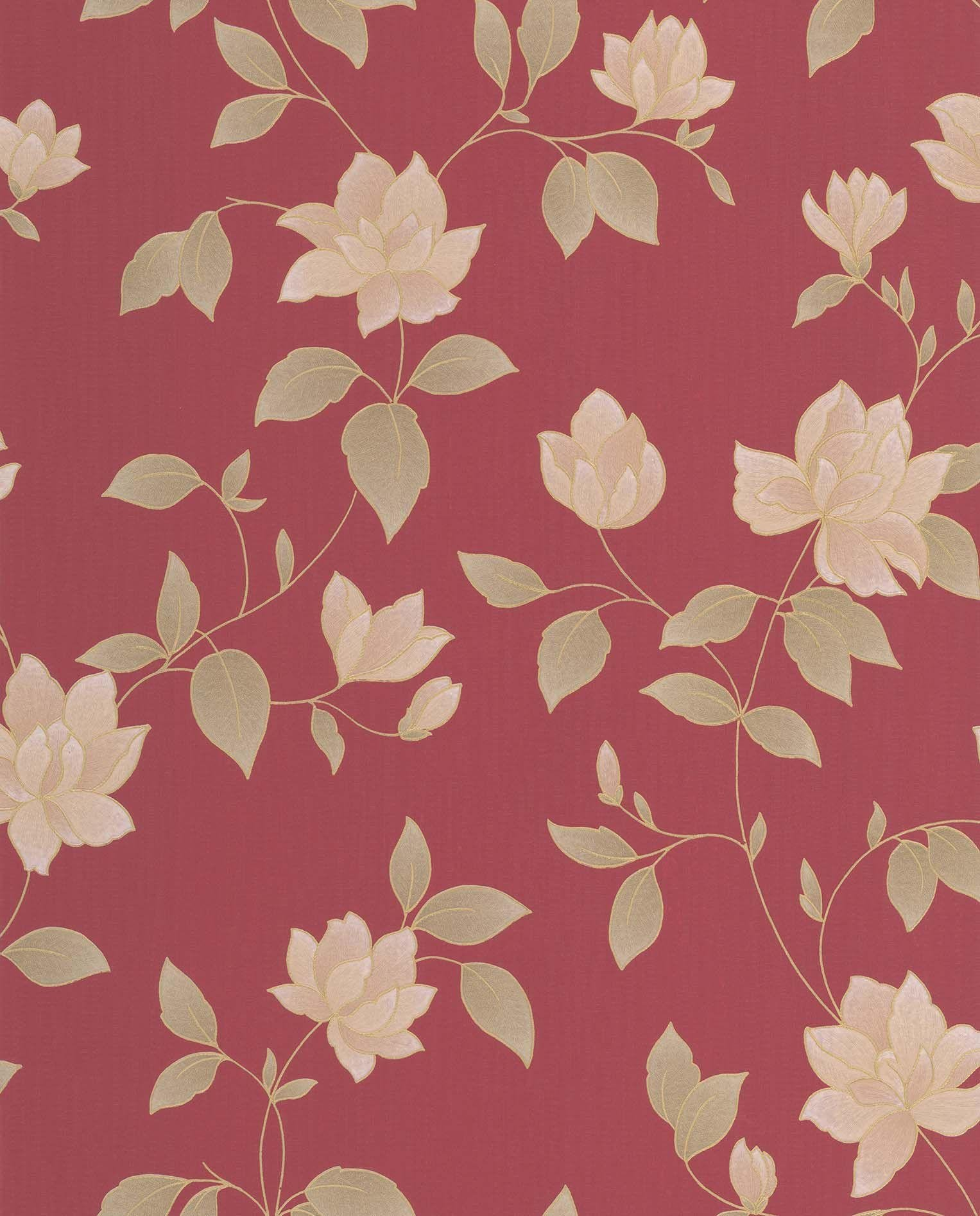 graham and brown amy wallpaper sample  red.