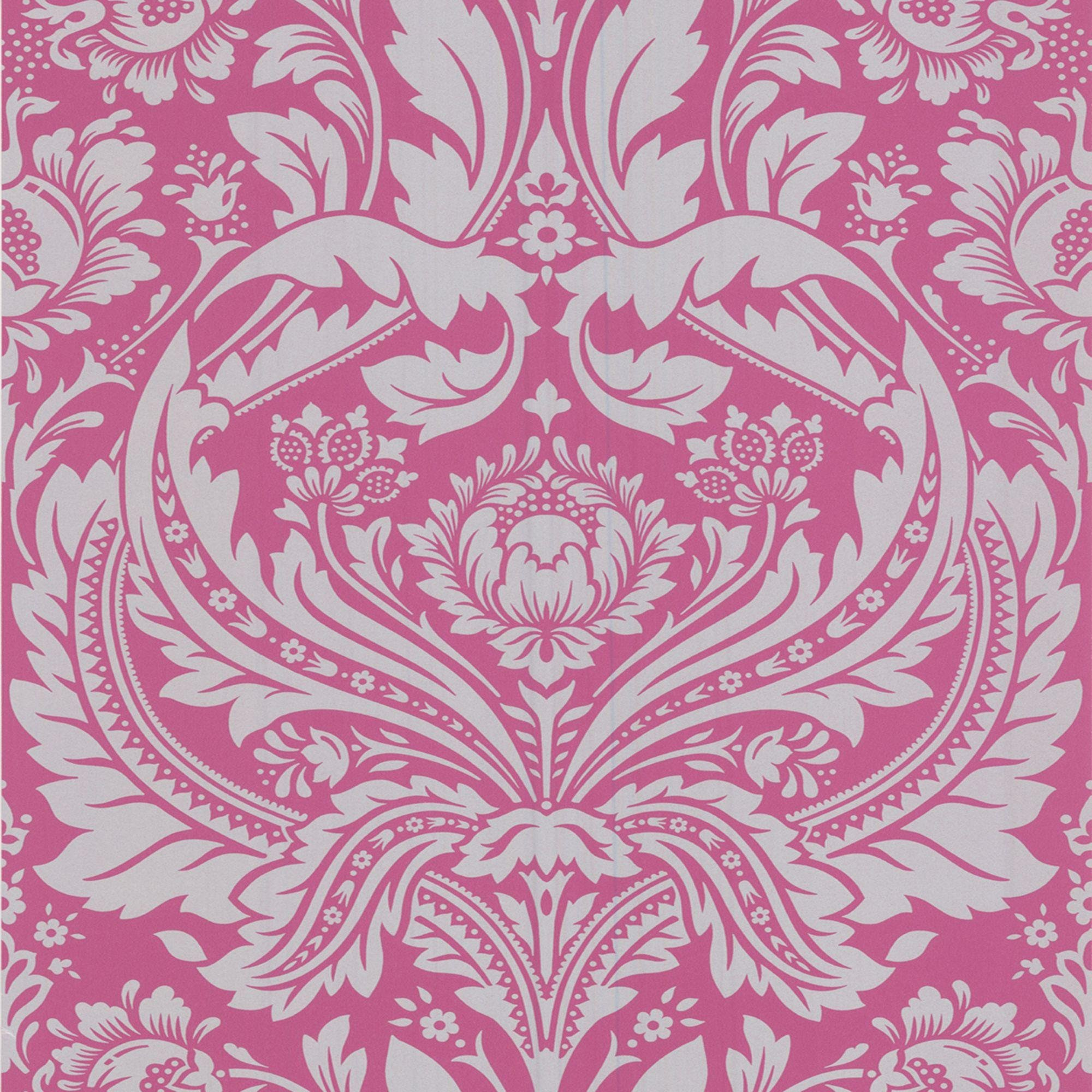 graham and brown wallpaper sample  desire pink.