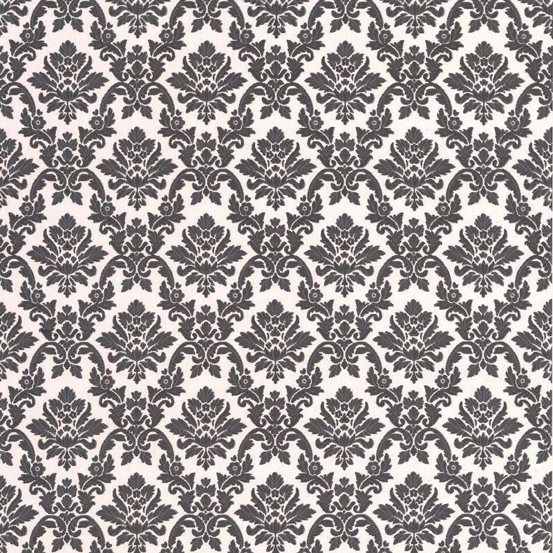 Superfresco Wallpaper Sample - Damask Black and White.