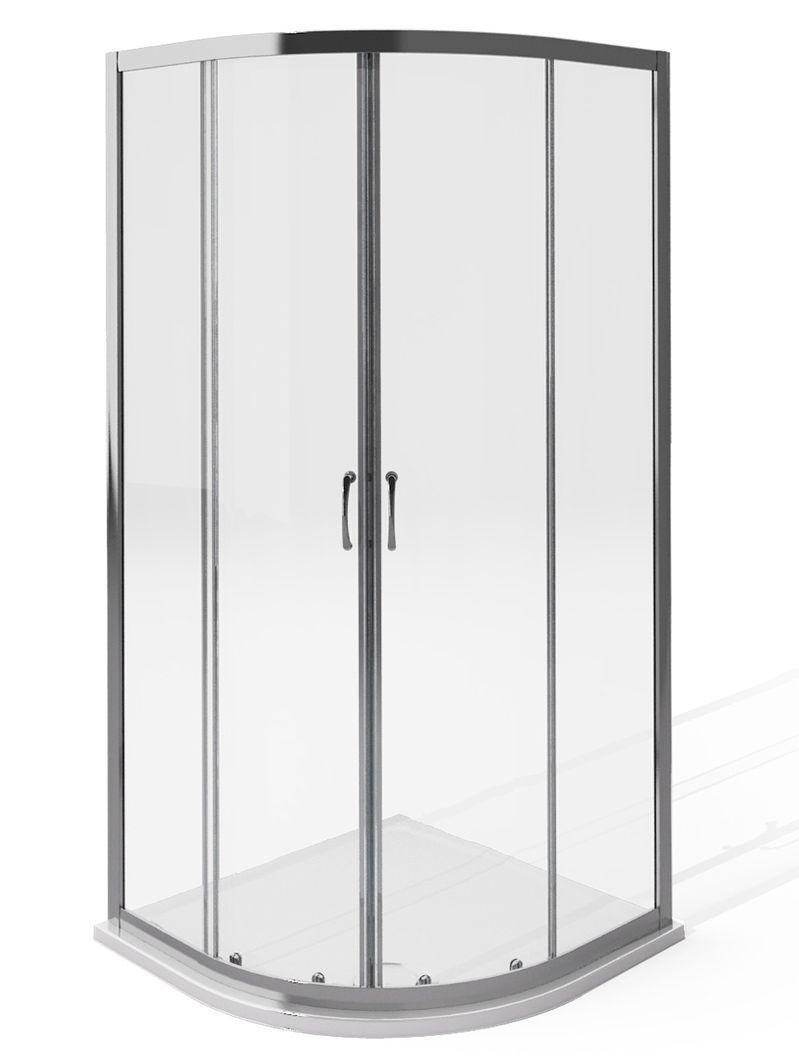 Image of AQUA 4 1850x900mm Quadrant Enclosure - Silver