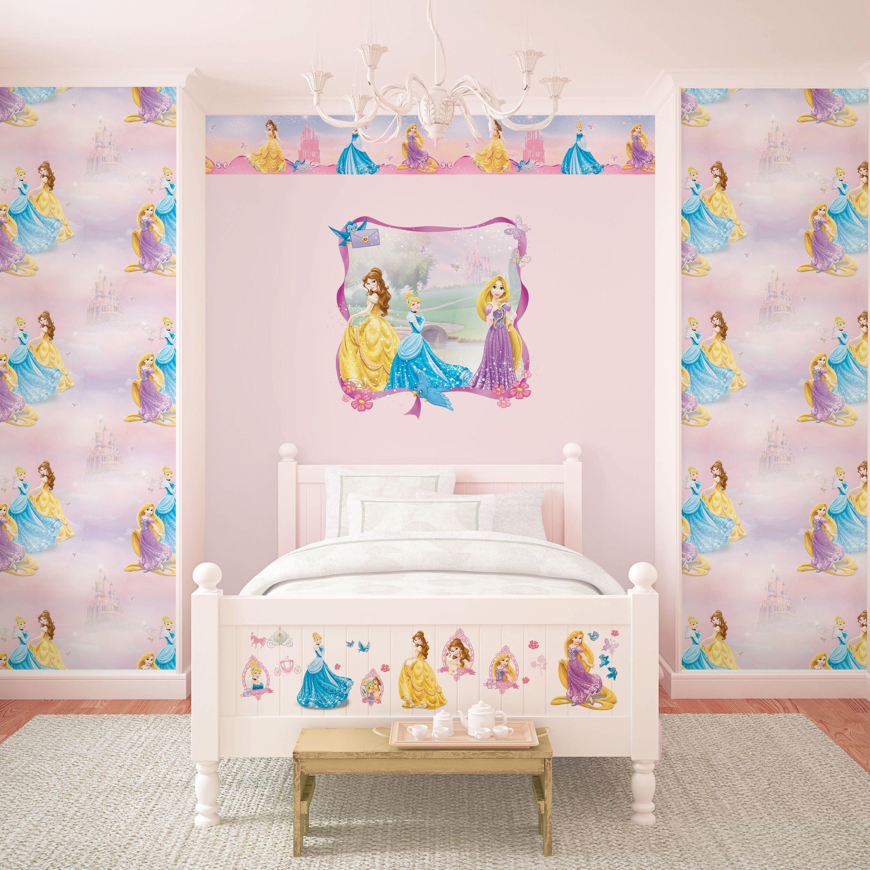 disney pretty princess wallpaper sample  multicoloured.