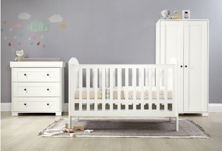 Mamas & Papas Harrow 3 Piece furniture Set - White.