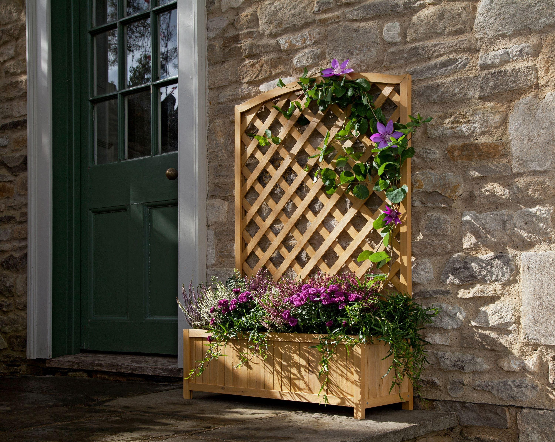 Buy Lattice Wooden Planter Garden pots and planters