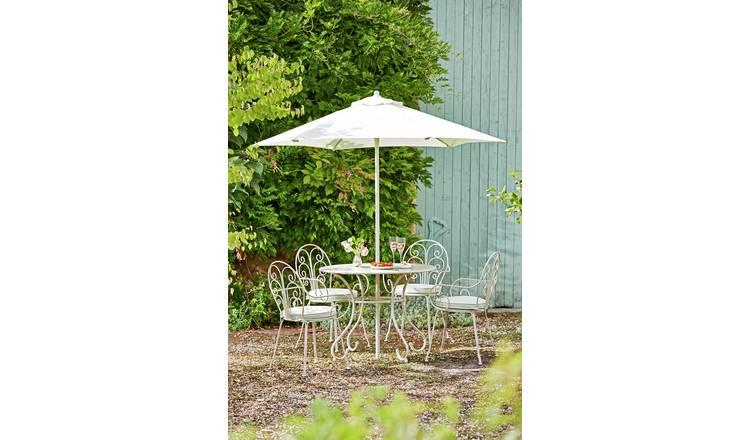 1111ac07c3 Buy Argos Home Jasmine 4 Seater Metal Patio Set - Cream | Garden ...