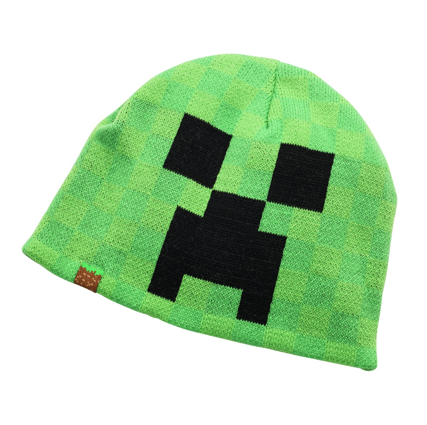 Image of Minecraft - Boys Green Beanie Hat - 11-14 Years