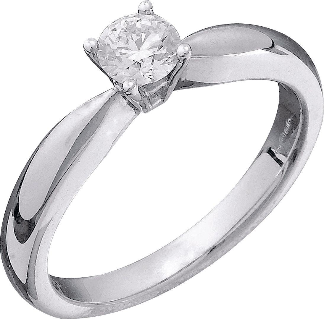 Made For You - 9 Carat White Gold 033 Carat Diamond - Solitaire Ring- W