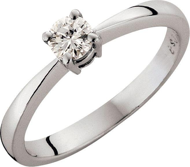 Made For You - Platinum 1/2 Carat Diamond - Solitaire Ring - Size W