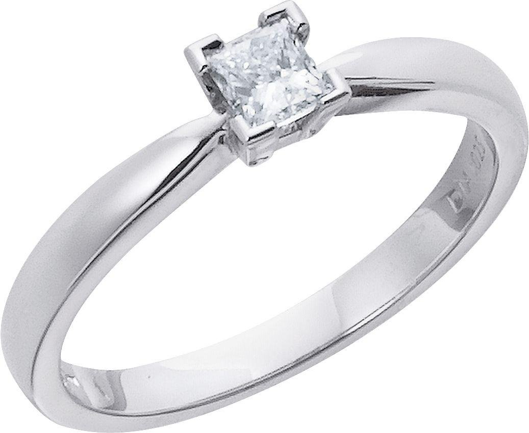 Made For You - Platinum 1/4 Carat Diamond - Princess Cut Ring - Size T