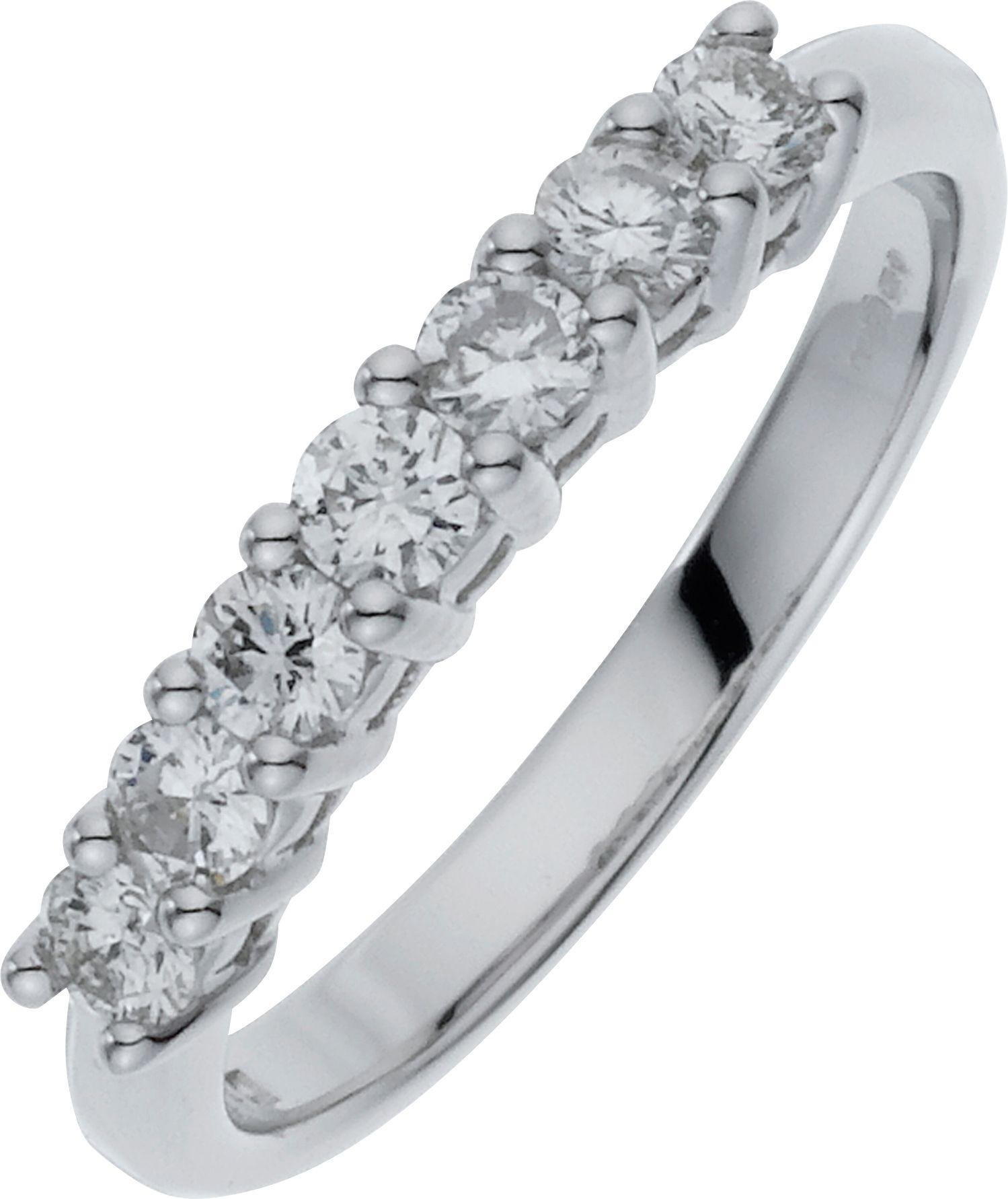 Made For You - 9 Carat White Gold 7 Stone Eternity Ring - Size U